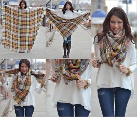 How To Wear a Rectangular Blanket Scarf Simplest Guide Ever