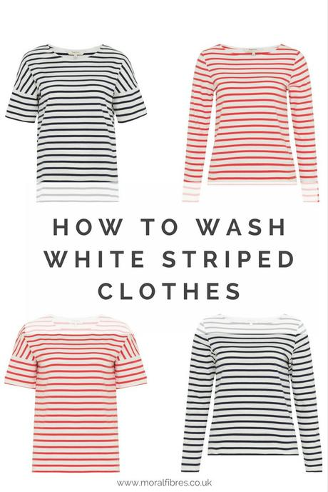 how to wash white striped clothes