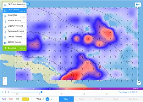 European model rain wind forecast