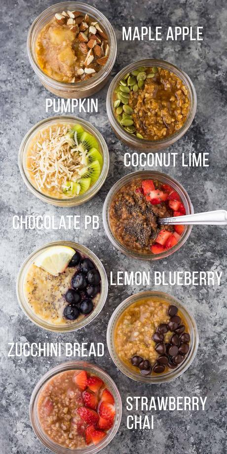 7 healthy steel cut oats recipes: make these guys in the Crock Pot, Instant Pot or on your stove top! Steel cut oats are easy to make ahead and store in your fridge and freezer for an effortless breakfast during the week.