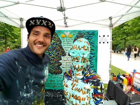 Fete de l'Iris - Peinture - Visages - Flesh and Acrylic Body Painting - Ben Heine Art - Live Performance -25