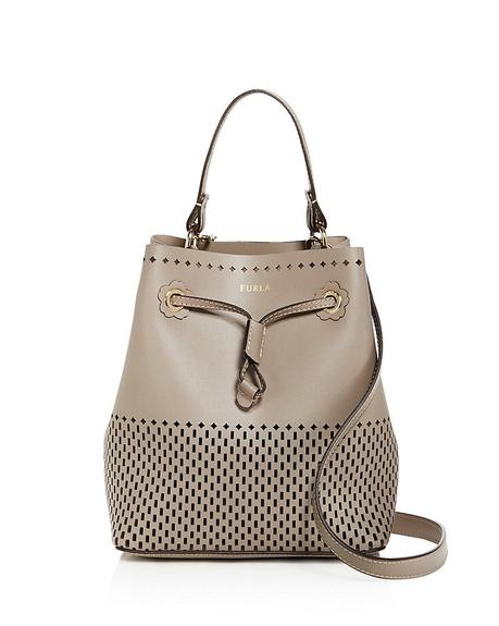 Furla perforated leather bucket bag