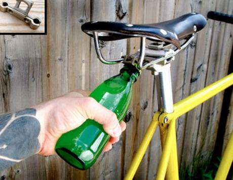 Bike-mounted Bottle Opener