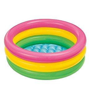 Image: Intex Sunset Glow Baby Pool - inflatable pool features three rings and a soft inflatable floor that provides extra safety and comfort!