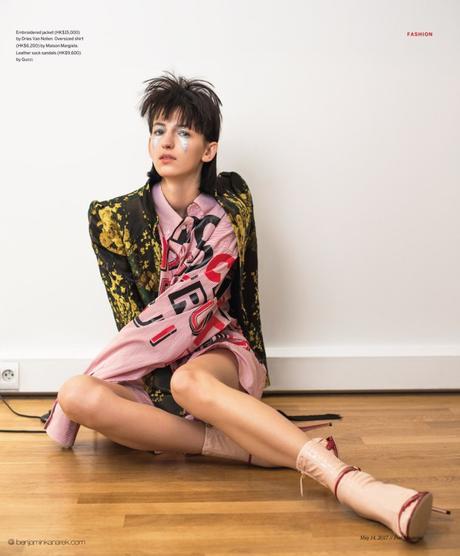 Klaudia Mae in Floral Fawning for POST Magazine SCMP by Benjamin Kanarek