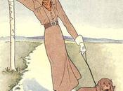 1930s Fashion Color Dress