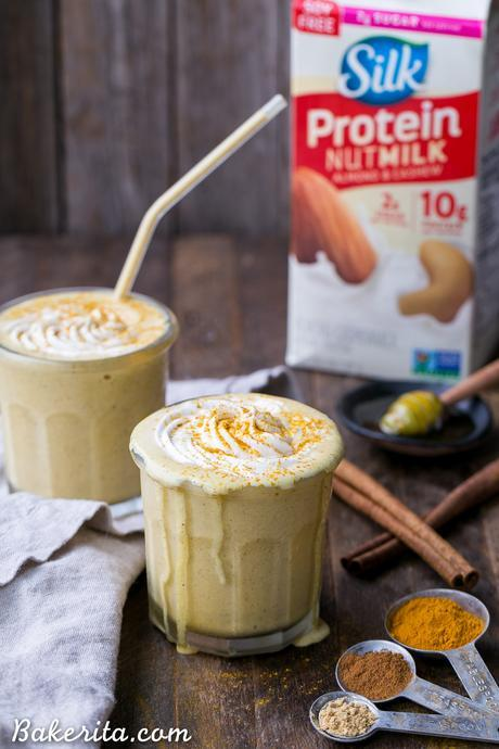 Golden Milkshakes are smooth, creamy, and refreshing, and they're loaded with anti-inflammatory turmeric and other health-boosting spices. This easy drink recipe is one you'll love sipping on hot days!