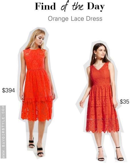 Summer Finds: Orange Lace Dress