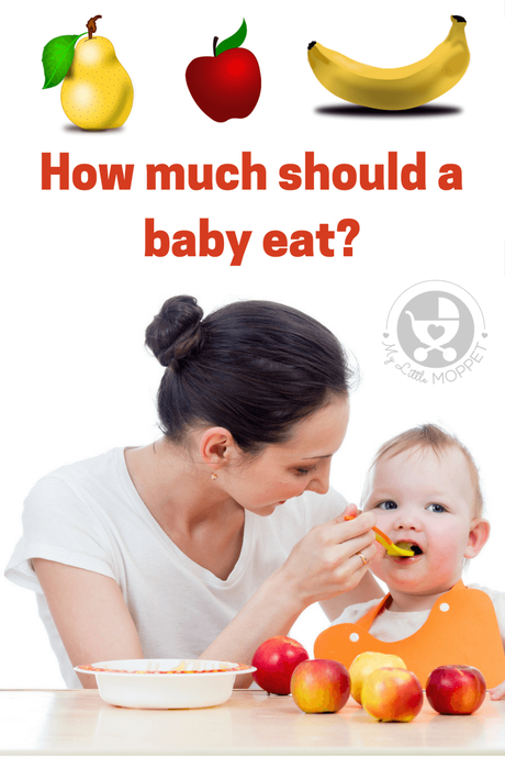 How Much Baby Food Should A  Month Eat