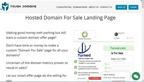 Monetize, Park, Sell and Manage Domains with Toughdomains