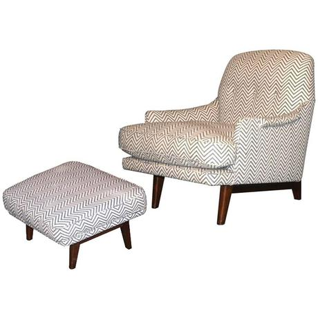 Modern Lounge Chair And Ottoman
