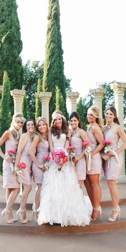 short sweetheart neckline blush bridesmaid dresses allure