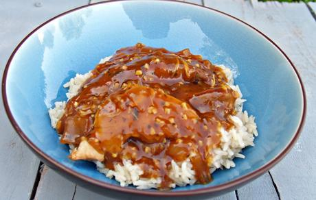 Slow Cooker Honey Garlic Chicken with Rice