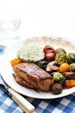 Chicken with Roasted Vegetables Tricolore