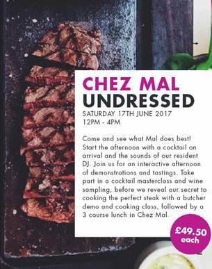 Event: Book Now for behind the scenes at Chez Mal event