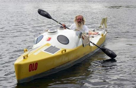 Aleksander Doba Catches Gulf Stream on Attempt to Cross Atlantic by Kayak