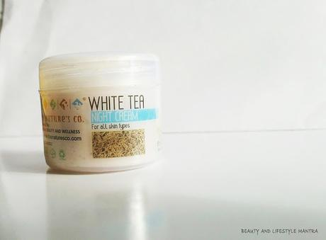 Review // The Natures Co. White Tea Night Cream