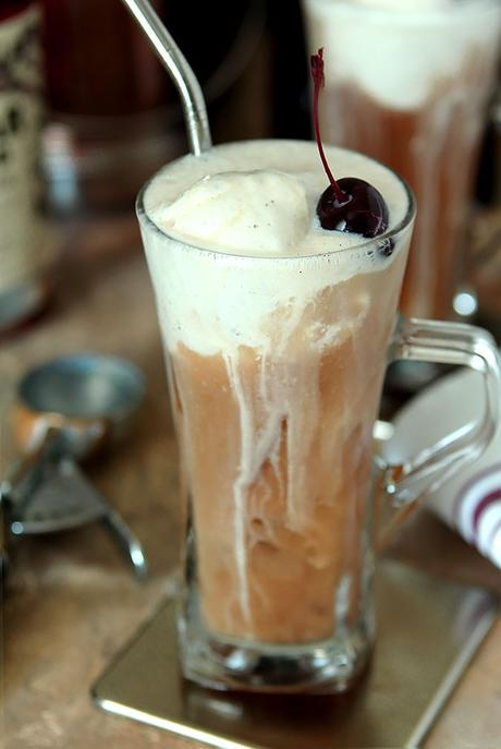 Rum Java Float with Spiced Rum and Cold Pressed Coffee