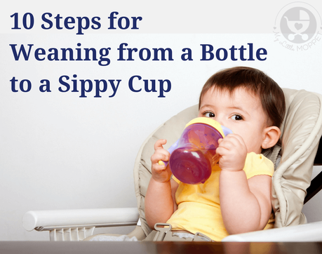 Help your baby make the transition to a cup easier with these 10 steps for weaning from a bottle to a sippy cup, in a gentle and effective manner!