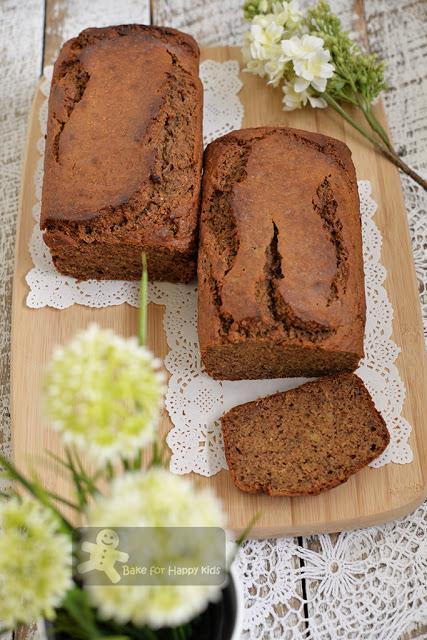 moist wholemeal buckwheat banana bread