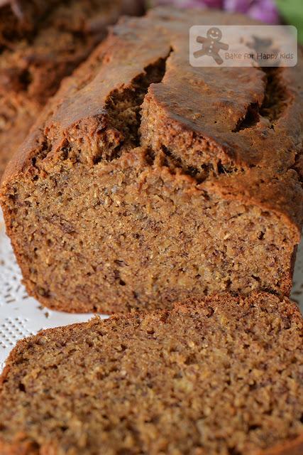 Very Moist Wholemeal Buckwheat Chia Seed Banana Bread