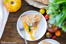 Mozzarella Heirloom Tomato Galette with Parmesan Crust (Gluten Free + Grain Free)