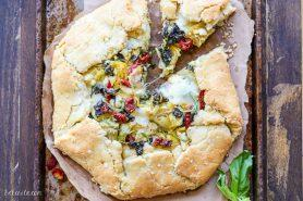 Spinach + Artichoke Mediterranean Galette (Gluten Free + Grain Free)