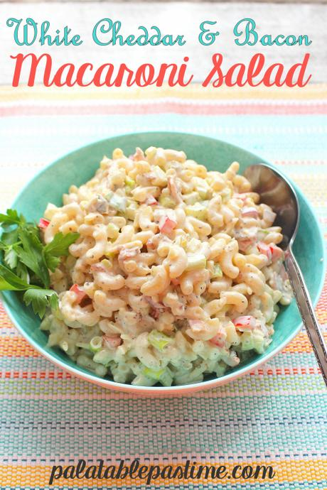White Cheddar and Bacon Macaroni Salad