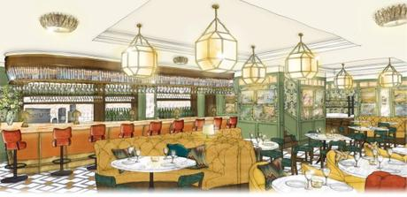 A look inside The Ivy on the Square in edinburgh