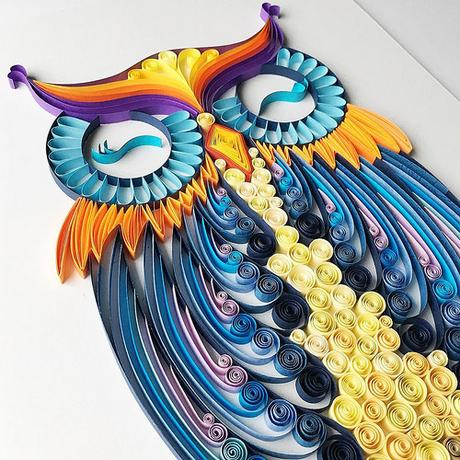 Quilled Owl - Iwona Wright