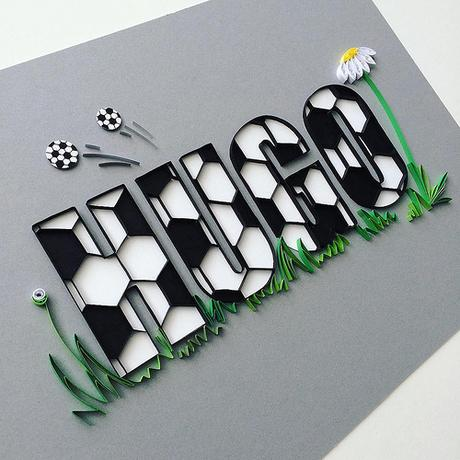 Quilled and Cut Paper Name - Iwona Wright