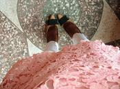 Duty Style Pink Long Sleeve Lace Dress