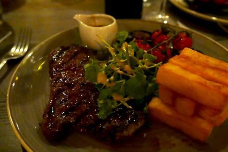 Steak and Chips at Kings Head, Cirencester