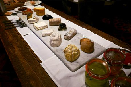 Cheese board at Kings Head, Cirencester