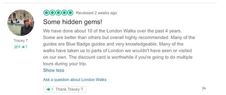 #London Walkers Review #LondonWalks:
