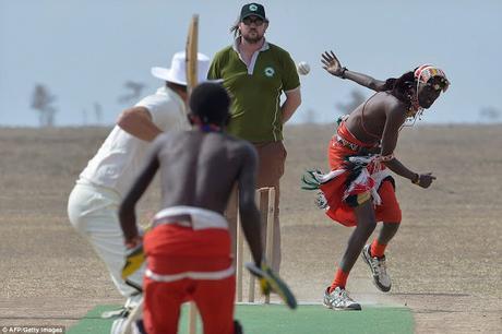 Champions Trophy finals loss ~  England plays Cricket at Laikipia - Maasai country