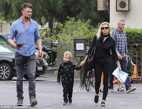 Singer Fergie Husband Josh Duhamel and Son Axl Spotted Attending Church In L.A.