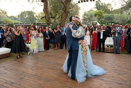 Boho chic wedding at Island Art & Taste | Dina & Fares