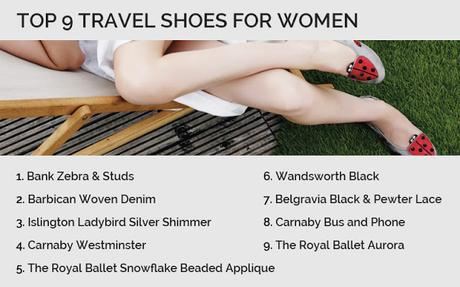 What are top 9 travel shoes for women to wear while moving?