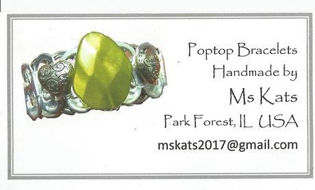 Thanks Ms Kats for the Pop Top Bracelets!