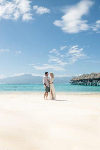 tropical honeymoon destinations bora bora beach and blue sea sv photograph