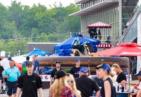 Kira Isabella and JoJo Mason at Mohawk Racetrack