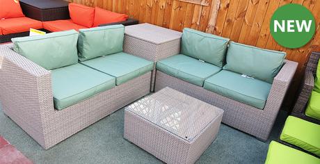 Our New Corner Rattan Sofa Set with Cushion Storage