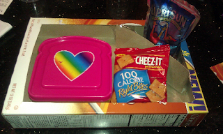 Image: Since I know we will be eating while on the road, I converted some cereal boxes into homemade kid trays