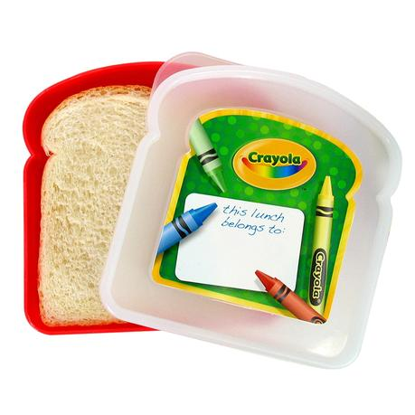 Image: Evriholder Crayola Sandwich Container, Colors Vary - Keeps sandwiches fresh, Made from BPA-free material