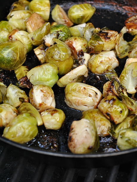 asian style grilled brussles sprouts