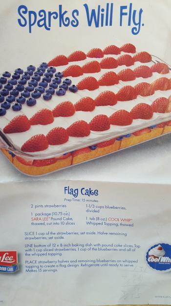 Lesson 1536 – Flag Cake Made Wrong