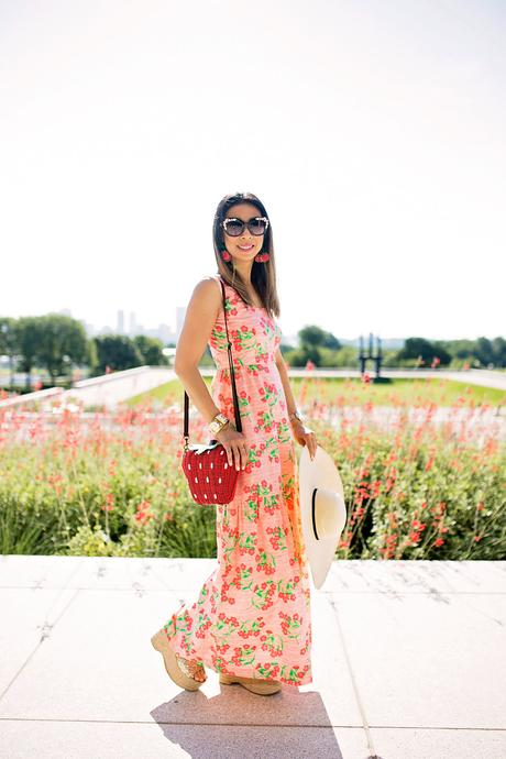 From Grandma with Love // Pink Floral Maxi Dress