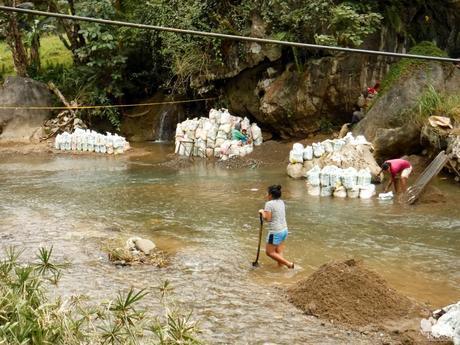 Quarrying in Tabunan River