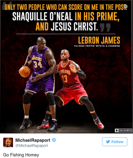 """LeBron James """"Only Jesus Christ & Shaquille O'Neal  In They Prime""""  Could Score On Him"""
